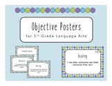 """""""I Can"""" Objective Posters - 5th Grade Language Arts {Virgi"""