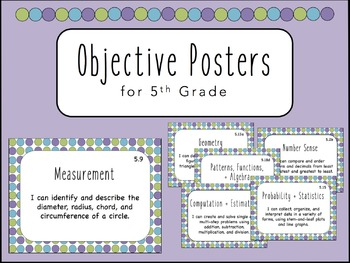 """""""I Can"""" Objective Posters - 5th Grade Math {Virginia SOL}"""