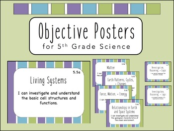 """""""I Can"""" Objective Posters - 5th Grade Science {Virginia SOL}"""