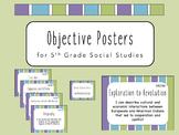 """I Can"" Objective Posters - 5th Grade Social Studies {Virginia SOL}"