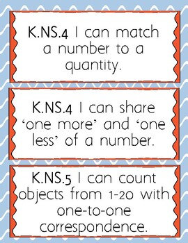 """""""I Can"""" Objectives for SC Math Standards (K5)"""