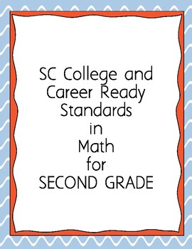 """I Can"" Objectives for SC State Math Standards (2nd)"