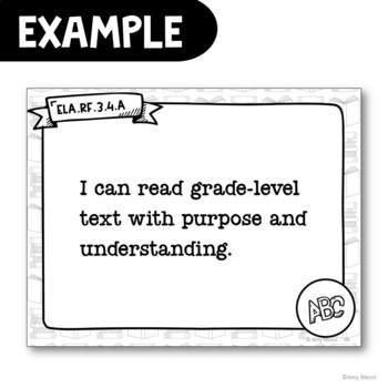 """3rd Grade """"I Can"""" Posters CCSS ELA & Math Common Core Standards"""