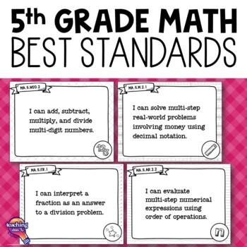 """I Can"" Posters 5th Grade MAFS Mathematics Florida Standards Math"
