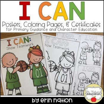 """I Can"" Posters, Coloring Pages, and Certificates"
