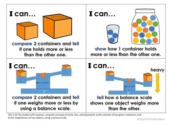 """I Can..."" Posters for VA Math Grade 1"