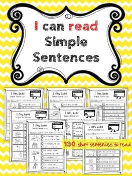 """I Can Read"" (130 Simple Sentences)"