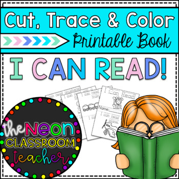 """""""I Can Read!"""" Cut, Trace, & Color Printable Book!"""