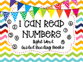 """""""I Can Read Numbers""""- Sight Word Guided Reading Booklet, L"""