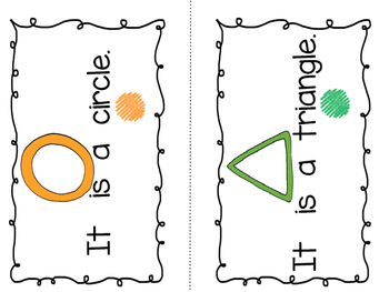 """""""I Can Read Shapes""""- Sight Word Guided Reading Booklet, Level A/B"""