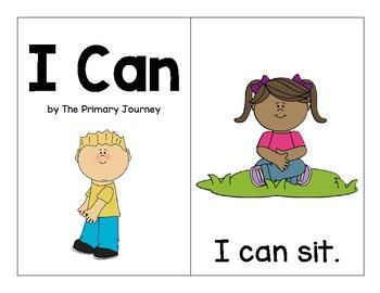 """I Can"" Reader (Color and Blackline)"