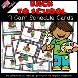 """""""I Can"""" Schedule cards"""