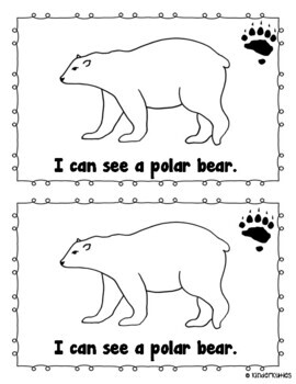 """I Can See Arctic Animals"" sight word emergent reader"