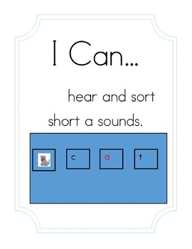 """""""I Can Hear and Sort Short 'a' Sounds"""" Activity"""