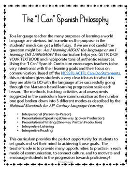 """I Can"" Spanish 2-Unit 1 IPA-style lessons: En Casa"