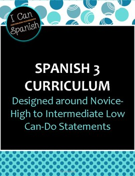 """I Can"" Spanish 3 IPA-Style Unit"