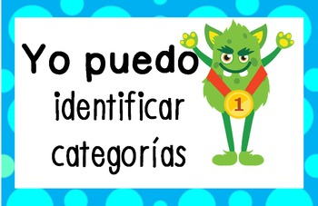 """I Can"" Posters - Speech and Language Goals - Spanish & English"