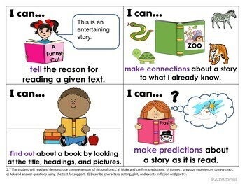"""""""I Can..."""" Statements 2nd Grade for VA SOL's"""
