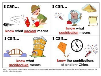 """I Can..."" Statements 2nd Grade for VA SOL's with UPDATED 2017 SOL's"