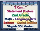 """I Can..."" Statements 2nd Grade for VA SOL's with UPDATED 2019 SOL's"