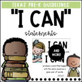 """""""I Can"""" Statements   Pre-K Texas Guidelines"""