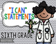 """""""I Can"""" Statements for 6th Grade NGSS"""