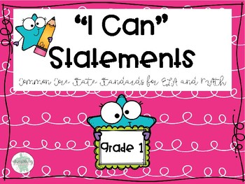 """I Can"" Statements for CCSS"