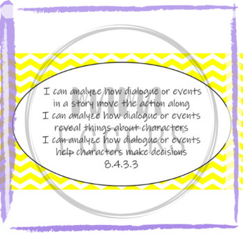"""I Can..."" Statements for MN ELA Standards-Grade 8"