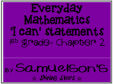 """""""I Can"""" Statements for MN Math Standards and Everyday Math- Chapter 2"""