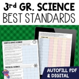 """""""I Can"""" Student Checklists 3rd Grade NGSSS Science Florida Standards"""