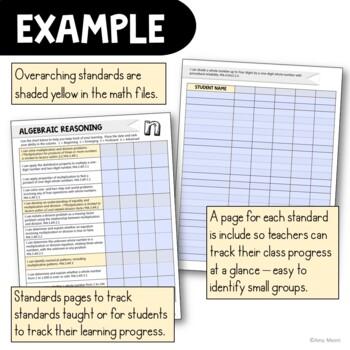 """I Can"" Student Checklists 4th Grade MAFS Math Florida Standards Mathematics"