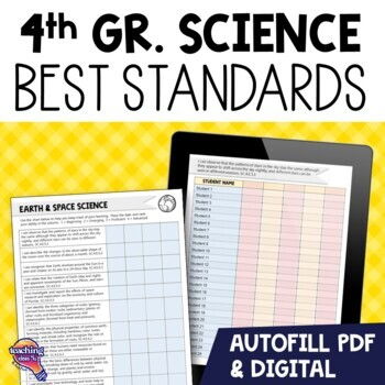 """""""I Can"""" Student Checklists 4th Grade NGSSS Science Florida Standards"""