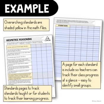 """I Can"" Student Checklists 5th Grade MAFS Math Florida Standards Mathematics"