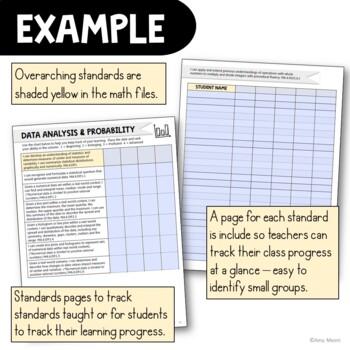 """I Can"" Student Checklists 6th Grade MAFS Math Florida Standards Mathematics"