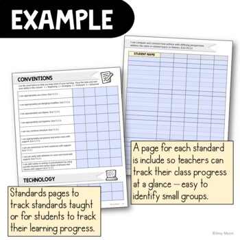 """I Can"" Student Checklists 7th Grade LAFS ELA Florida Standards Language Arts"