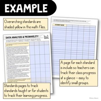 """I Can"" Student Checklists 7th Grade MAFS Math Florida Standards Mathematics"