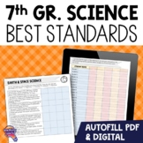 """""""I Can"""" Student Checklists 7th Grade NGSSS Science Florida Standards"""