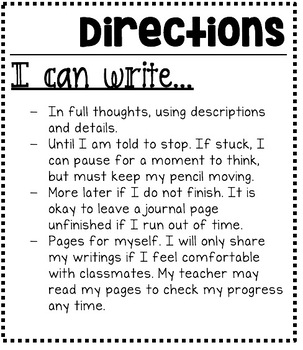 """""""I Can Write..."""" 50 Journal Prompts for Student Notebooks"""