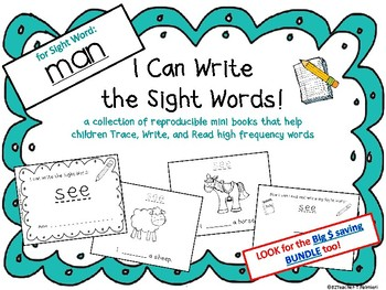 """I Can Write the Sight Word MAN"" Mini Book"