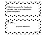 'I Can' statements Visual Arts (PreK) NCCAS