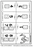 I Can Count & Write Numbers 1-9  Mini Book - 2 Pages Pre K, K, 1, Art Lesson