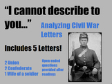 Close Reading Civil War Letters (Primary Source)
