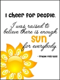 """I Cheer For People"" Classroom Poster"