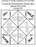 """I Could Do That! Esther Morris Gets Women the Vote"" Vocabulary Fortune Teller"