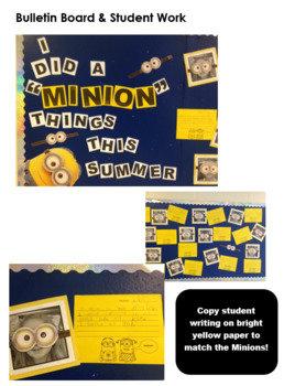 """I Did a Minion Things This Summer"" - Writing Activity"