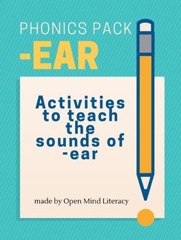 """""""I Fear I Heard a Bear""""-  Word Lists, Sentences, and Fluency with -Ear"""