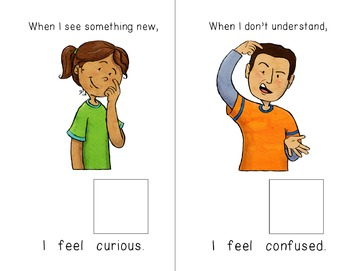 """""""I Feel"""" Feelings and Emotions Adapted Sentence Starter Books - Special Ed"""