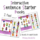 """I Feel"" Feelings and Emotions Adapted Sentence Starter Books - Special Ed"