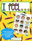 """""""I Feel"""" Visual Emotions Chart and Activities"""