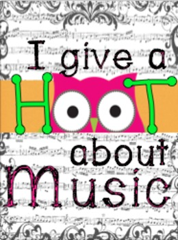 I Give a Hoot About Music BB Kit with Bunting Banner